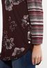 Plus Size Foral Stripe Hacci Top alt view