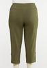 Plus Size Olive Utility Bengaline Pants alternate view