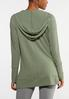 Plus Size Hooded Hacci Top alternate view