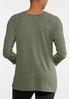 Plus Size Brushed Green Sweater alternate view