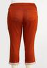 Plus Size Color Cropped Skinny Jeans alternate view