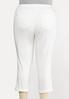 Plus Size White Skinny Ankle Jeans alternate view