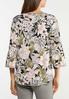 Plus Size Floral Bell Square Neck Top alternate view