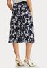 Plus Size Navy Floral Mesh Skirt alternate view