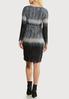 Plus Size Ombre Faux Wrap Dress alternate view