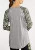 Plus Size Camo Raglan Top alternate view