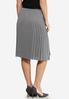 Plus Size Heather Pleated Skirt alternate view