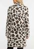 Plus Size Leopard Eyelash Cardigan alternate view