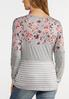 Plus Size Floral Colorblock Baseball Tee alternate view