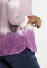 Plus Size Lavender Tie Dye Tee alt view