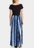 Plus Petite Solid Tie Dye Maxi Dress alternate view