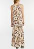 Plus Size Floral Pleated Maxi Dress alternate view