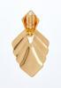 Gold Goddess Clip- On Earrings alternate view