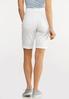White Jean Shorts alternate view