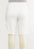 Plus Size White Jean Shorts alternate view
