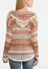 Plus Size Striped Pointelle Cardigan Sweater alternate view