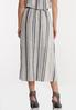 Striped Linen Midi Skirt alternate view