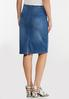 Plus Size Braided Trim Denim Skirt alternate view