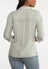 Plus Size Linen Utility Shirt alternate view
