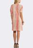 Plus Size Pleated Cold Shoulder Dress alternate view