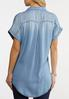 Plus Size Classic Chambray Shirt alternate view