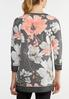Plus Size Pink Floral Athleisure Top alternate view