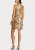Plus Size Ruffled Animal Dress alternate view