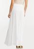 Plus Size Textured White Maxi Skirt alternate view