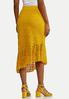 Gold Lace Midi Skirt alternate view