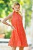 Plus Size Pleated Lace Swing Dress alt view