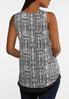Plus Size Black And White Patchwork Tank alternate view