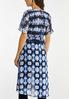 Plus Size Blue Tie Dye Kimono alternate view