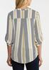 Plus Size Striped Equipment Top alternate view