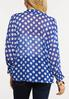 Plus Size Polka Dot Kimono Top alternate view