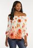 Plus Size Orange Blossom Top alt view