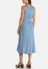 Plus Size Ruffled Chambray Dress alternate view