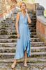 Plus Size Ruffled Chambray Dress alt view