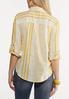 Plus Size Yellow Mixed Stripe Shirt alternate view