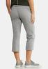 Gray Cropped Athleisure Pants alternate view