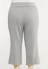Plus Size Gray Cropped Athleisure Pants alternate view
