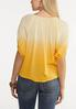 Yellow Tie Dye Top alternate view