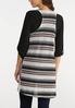 Stripe Print Hacci Vest alternate view