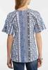 Paisley Crochet Sleeve Top alternate view