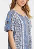 Plus Size Paisley Crochet Sleeve Top alt view