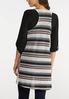 Plus Size Stripe Print Hacci Vest alternate view