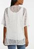 Plus Size Ivory Lace Cardigan Set alternate view