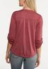 Plus Size Solid Button Front Top alternate view