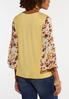 Plus Size Floral Flutter Sleeve Top alternate view