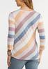 Plus Size Twisted Diagonal Stripe Tee alternate view