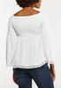 Plus Size Smocked Off The Shoulder Top alternate view